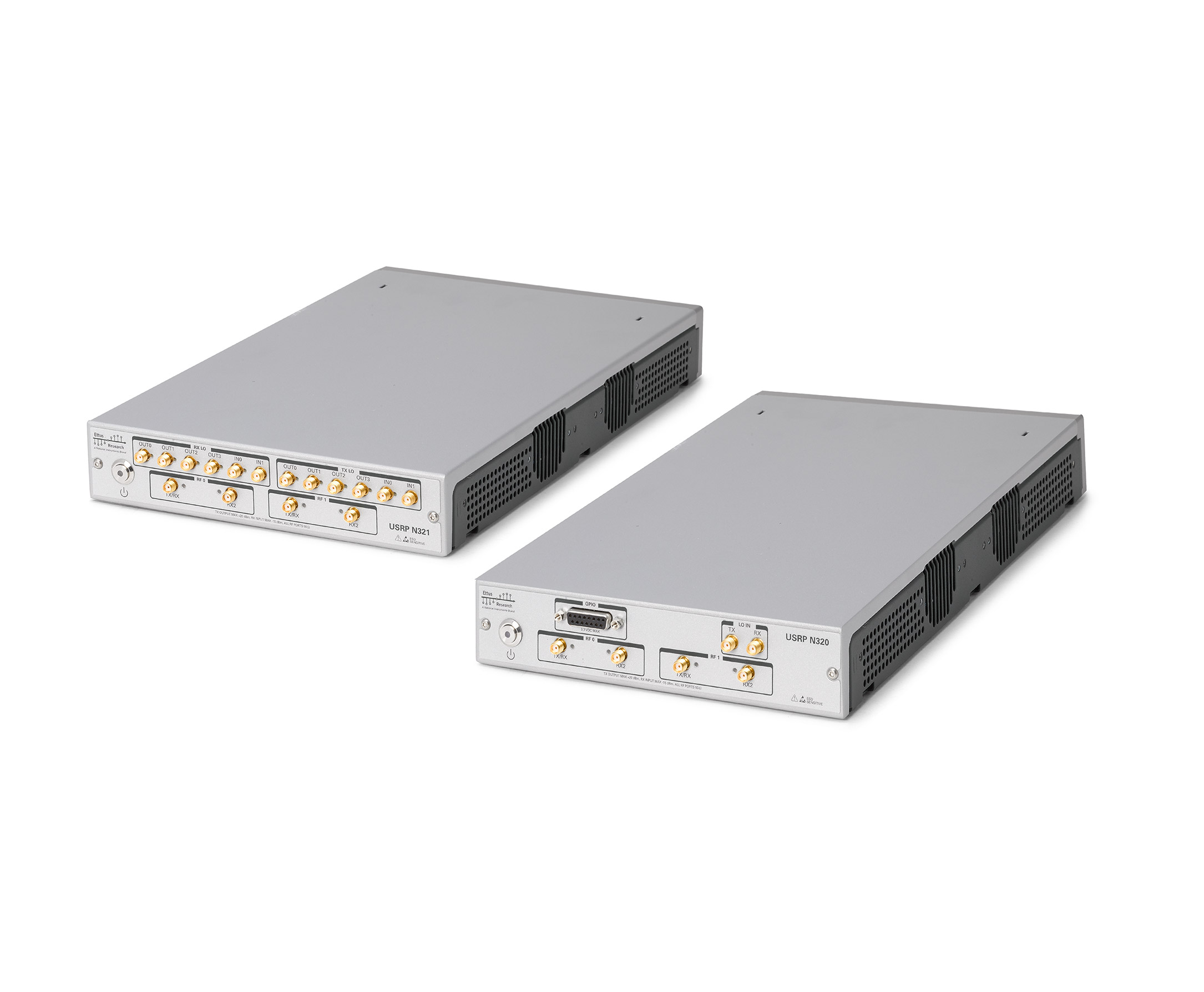 side by side comparison of the USRP N320 and USRP N321